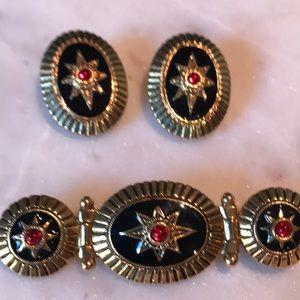 Vintage Brooch & Earring Set